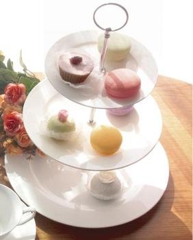 ceramic plain white 3 tier cake plate stand set  sc 1 st  Alibaba & Ceramic Plain White 3 Tier Cake Plate Stand Set - Buy 3 Tier Cake ...