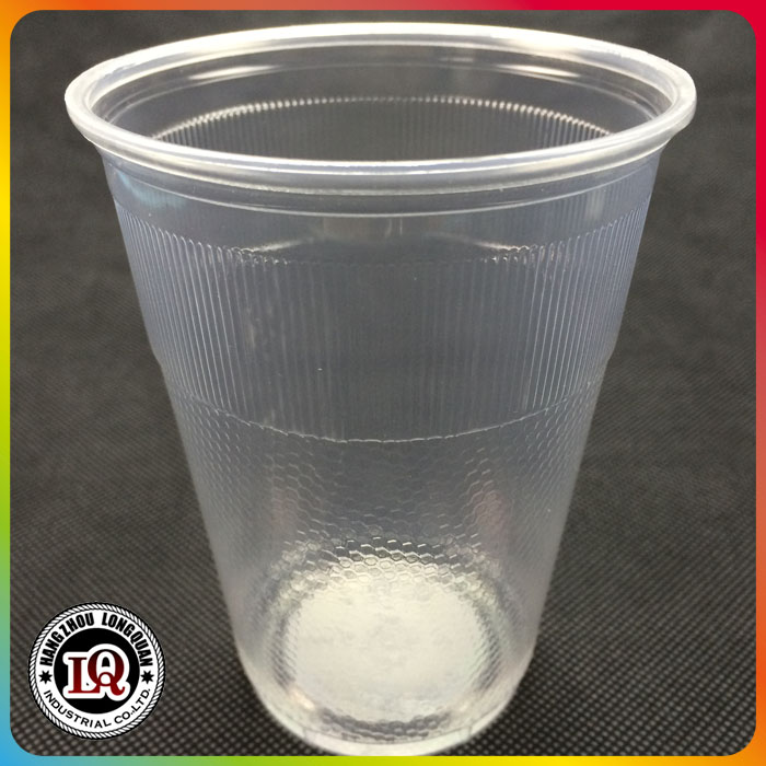 Disposable clear pp cup vertical line