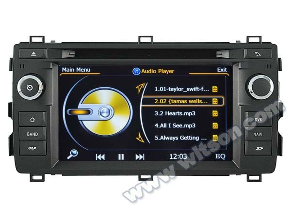 WITSON FOR <strong>TOYOTA</strong> AURIS 2013 <strong>CAR</strong> DVD GPS WITH 1.6GHZ FREQUENCY A8 DUAL CORE CHIPSET BLUETOOTH GPS