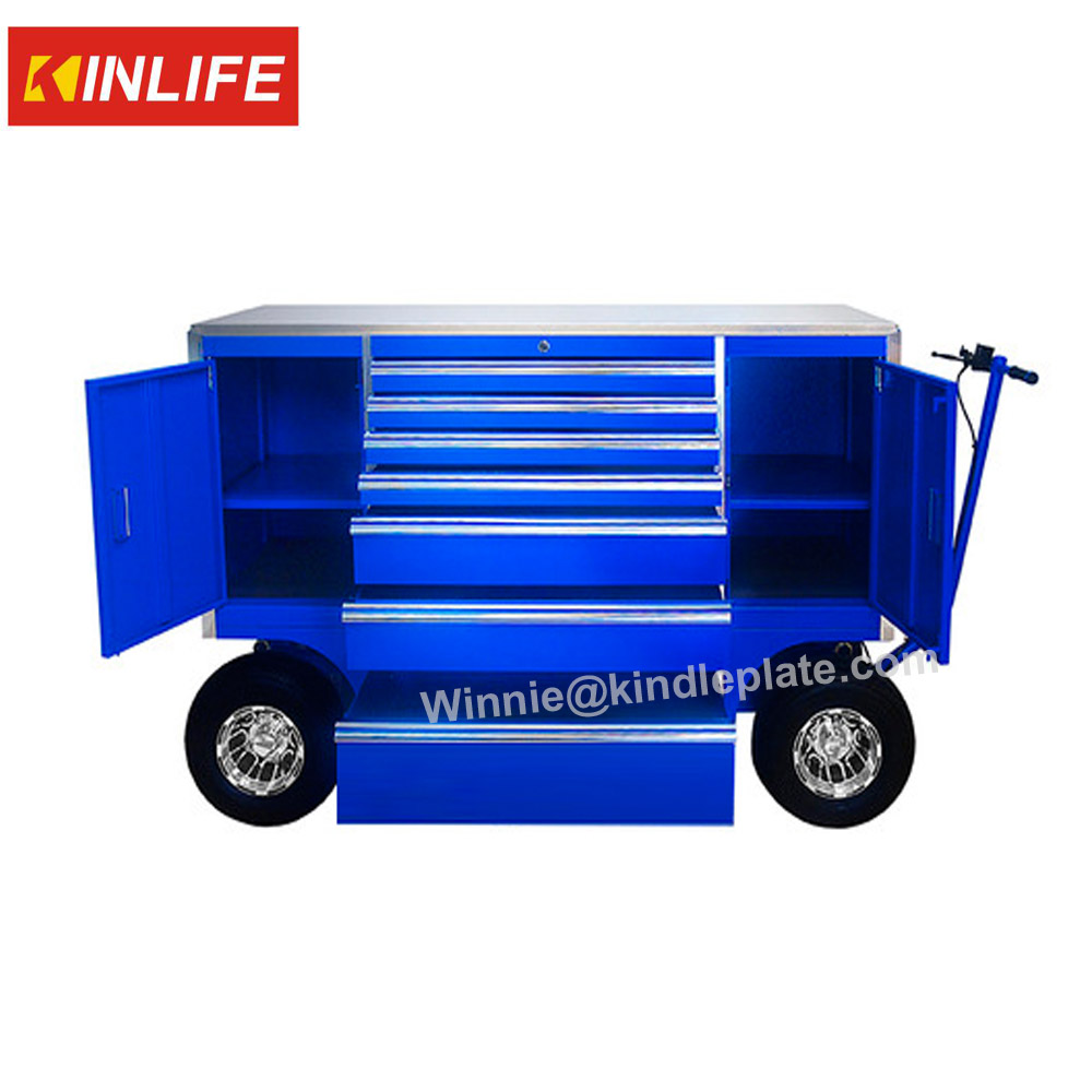 "72"" Aluminum Roll Cart Tool Box"