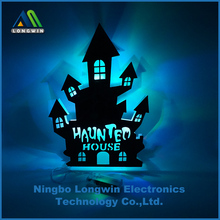 LED flashing Halloween house wall hanging decoration table decoration