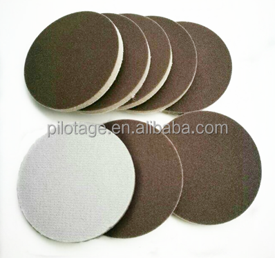 corundum sponge sandpaper sanding disc with velcro backing type