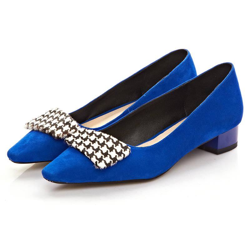 2015 Summer dress flats for women Genuine leather shoes on Platform Pointe Designer Boats Blue and black Wholesale Free shipping