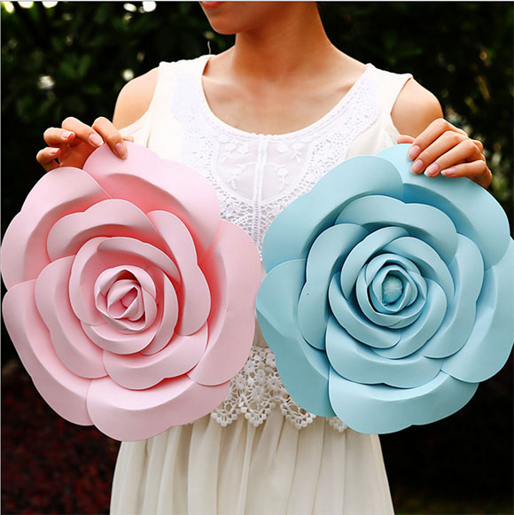 Wholesale Backdrop Large Rose Giant Paper Flower For