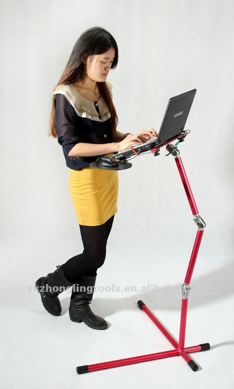 Floor stand laptop stand to relax your hands /legs and neck to using your laptop on bed/sofa/desk