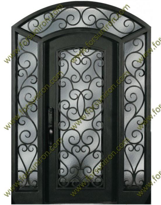 2014 nuevo dise o de puerta de hierro forjado con el for Diseno puertas hierro