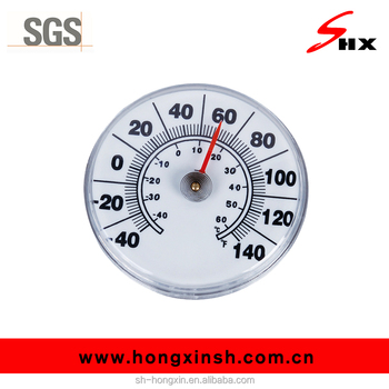 Round Window Suction Cup Thermometer