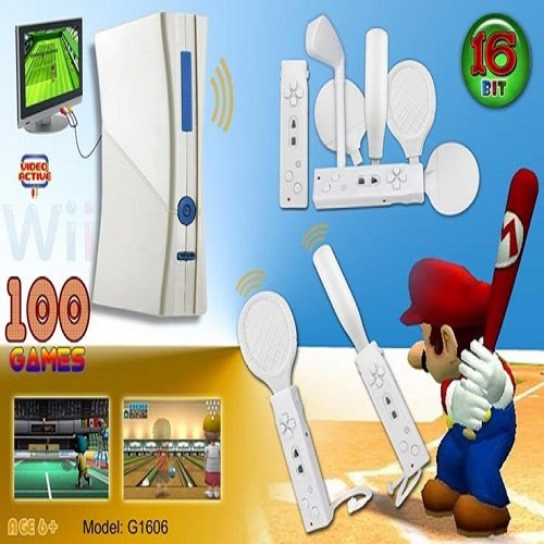 16 Bit wireless sport TV game player for whole family play