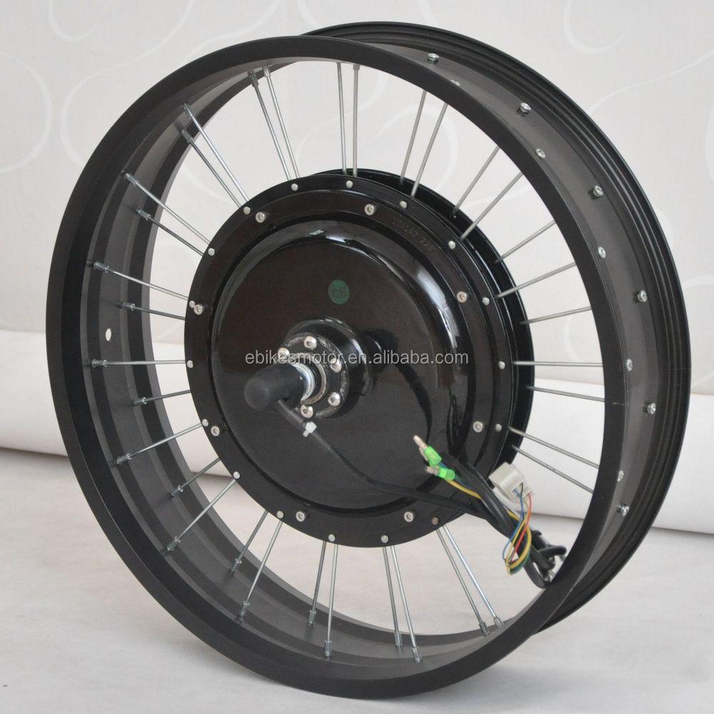 120kph 5000w electric bicycle motor wheel for fat bike 6 for Electric bike rear hub motor