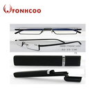 FONHCOO Cheap Rectangle Frame 1.25 1.75 2.75 3.25 4.00 Mini Reading Glasses With Case