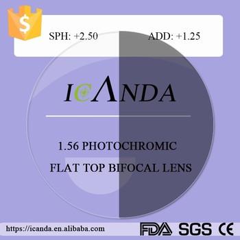 6ffb88c6ca714 Lente Oftálmica Ótica Cinzenta Rápida Da Foto Bifocal 1.56 - Buy ...
