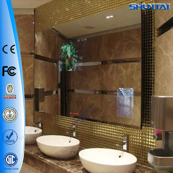 42 Inch Wall Mounting Magic Mirror Decorative With Tv Wifi Hotel Bathroom