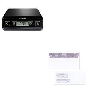 KITPEL1772055QUA67529 - Value Kit - Quality Park Reveal-N-Seal Double Window Invoice Envelope (QUA67529) and Dymo M3 Digital Postal Scale (PEL1772055)