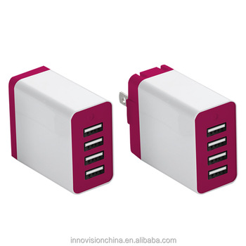 Fast changing 4 ports usb travel charger with EU AU UK US travel usb charger