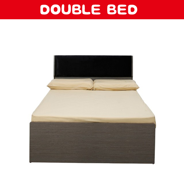 latest wood double sex bed design with box