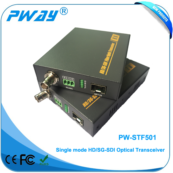 New hd-sdi over fiber with rs485 with 1080P converter
