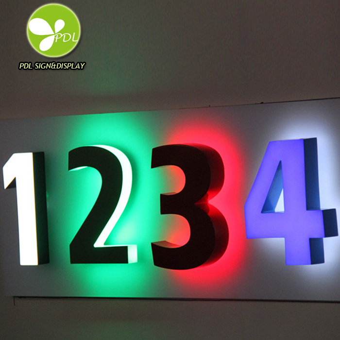 High Bright Acrylic Raised Letter and Numbers