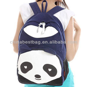 3d Plush Panda School Backpack Bag
