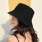 Wholesale monogram summer beach plain white cotton bucket hat