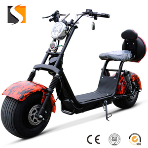 Wholesale 2000w power big tyre electric scooter with 60v20ah lithium battery, citycoco scooter