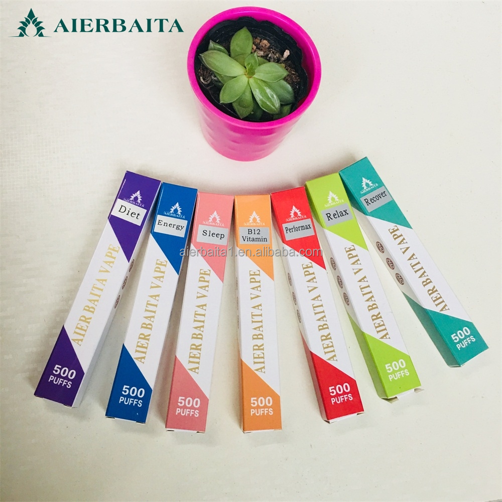 Custom logo Relax cigarette disposable 500 puff vitamin Stick portable soothes relax stick Vitamin inhaler