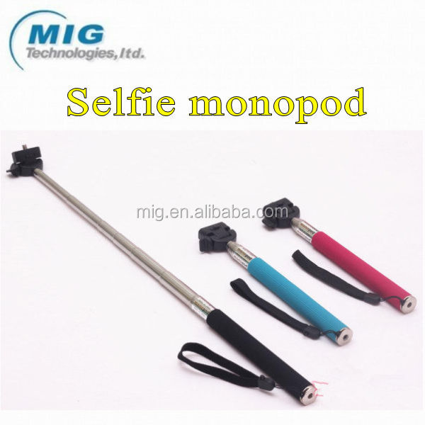2 in 1 extendable selfie stick for iphone for Smausng, handheld camera photo monopod with adjustable phone holder