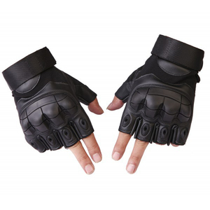 Proper Price Leather Military Fingerless Gloves