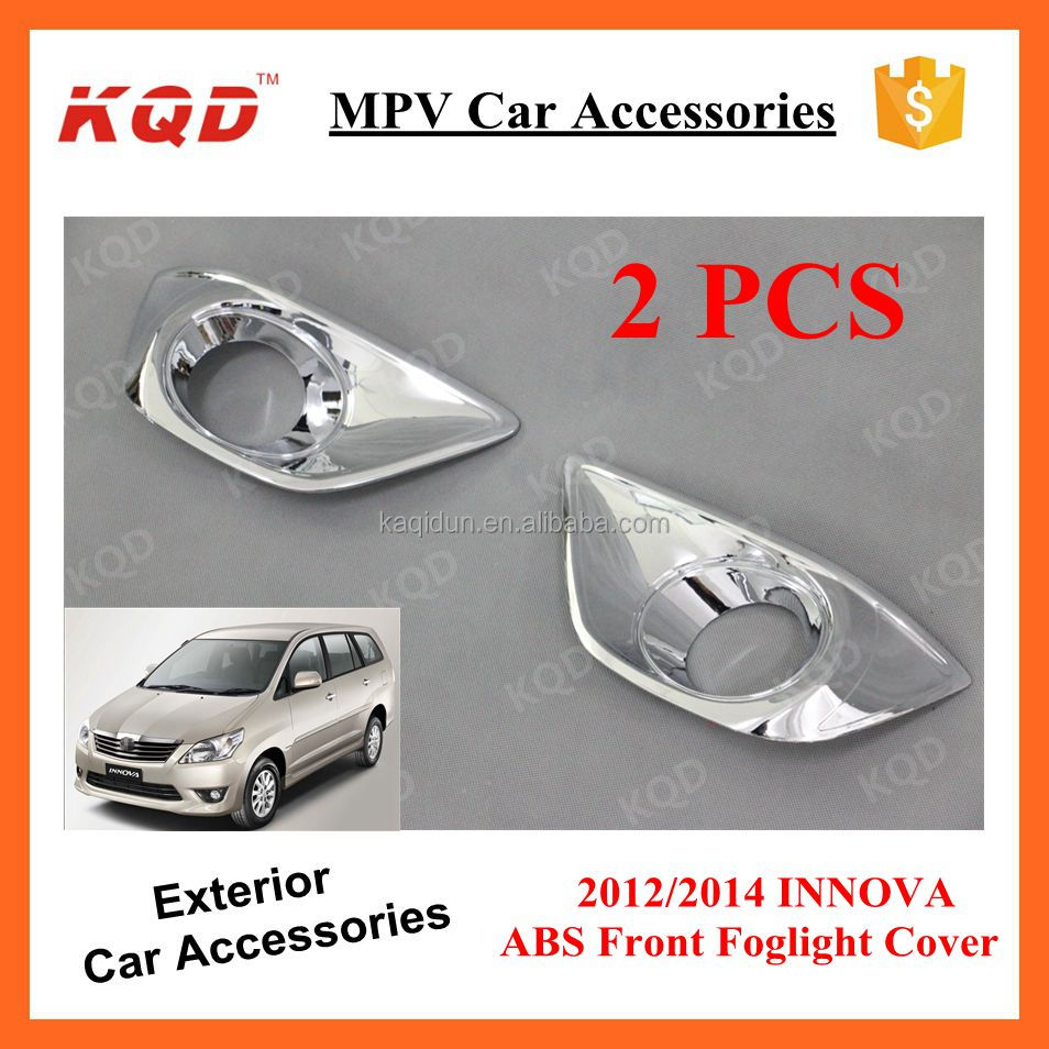 New ABS Plastic Chrome Black Front Back Foglamp Foglight Brake Light Covers Trims For Kits Full INNOVA TOYOTA 2012