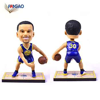 OEM bobblehead sport fan collectie souvenir action figure man basketbal speler dashboard Stephen Curry bobble head