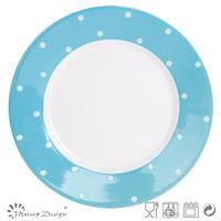 ceramic stoneware cheap glazing with dots plate