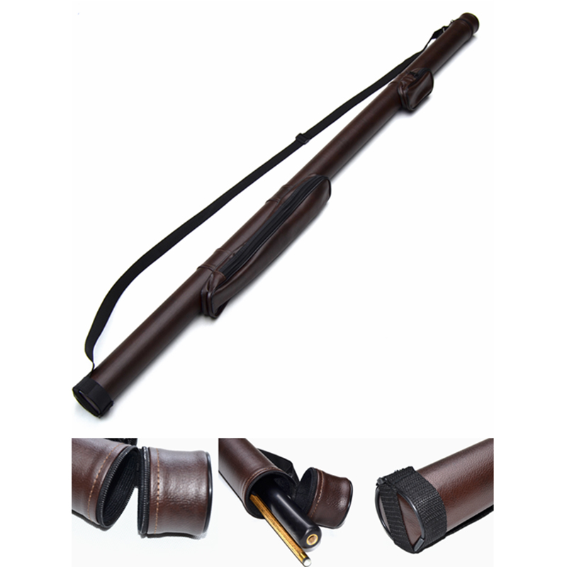 billiard leather cue case for one/ two piece snooker cue
