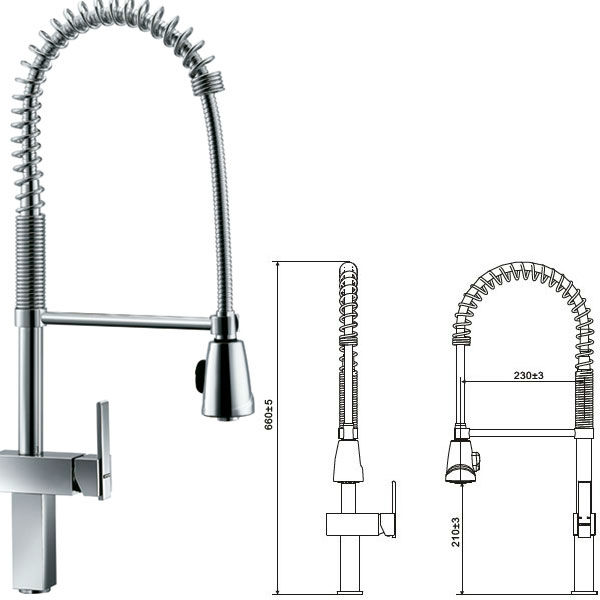 China High Bending Kitchen Accessories Beauty Durable Faucet