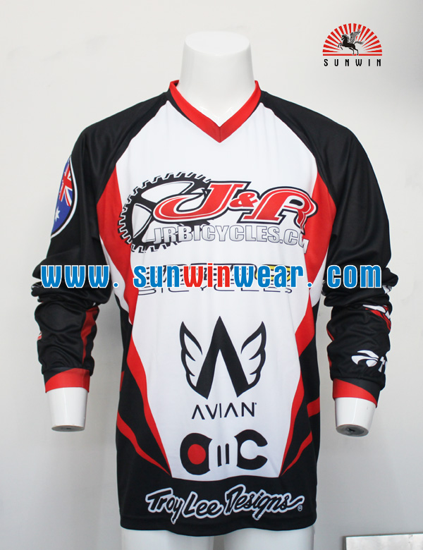 new Popular bmx jerseys wholesale mtb downhill clothes custom bmx jerseys