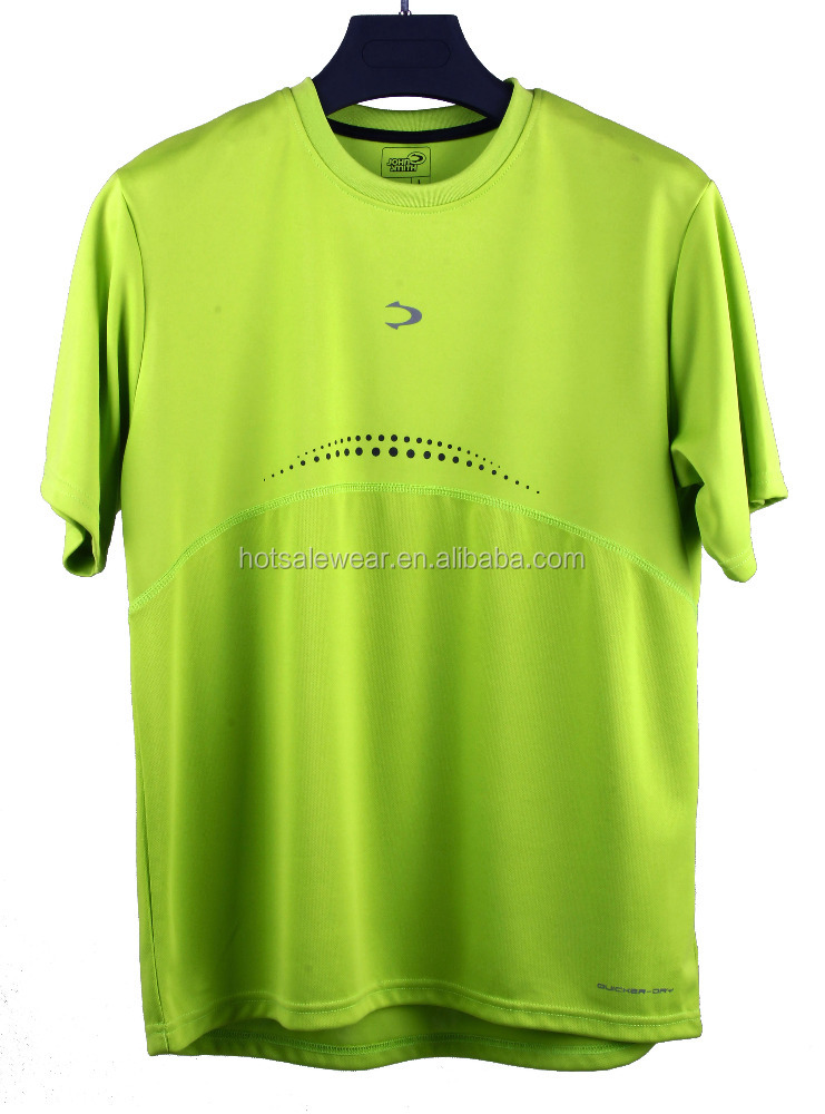 100%polyster cheap sport men breathable leisure promotion round plain neck t shirts xm-002