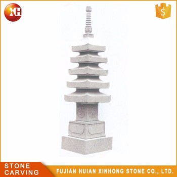 Natural Granite Hand Carved Stone Lantern Sculpture Japanese Garden Pagoda  (24 Years Factory)