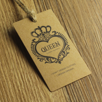 New Fashion Custom Craft Paper Garment Clothing Hang Tags