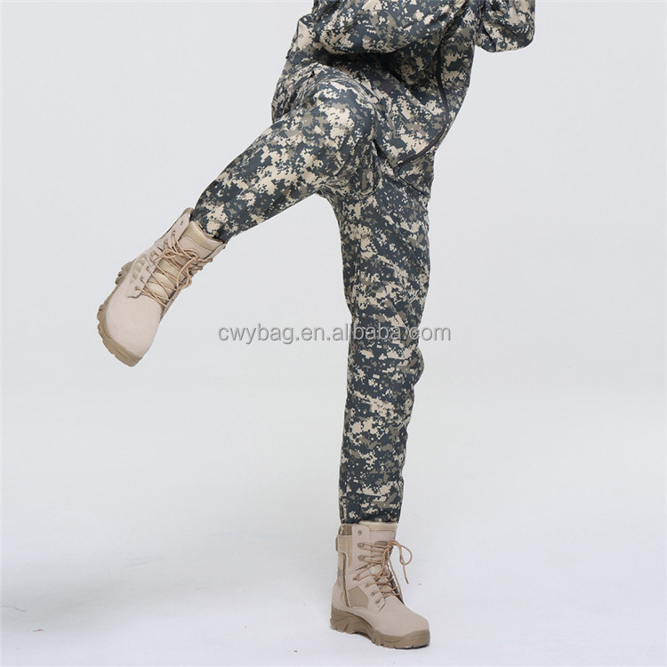 New Tactical Sharkskin Softshell Trousers Waterproof Camouflage Pant