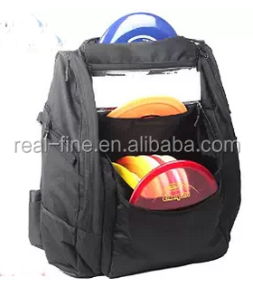 Disc Golf Bag Backpack - Black (Capacity: 25-30 Discs)
