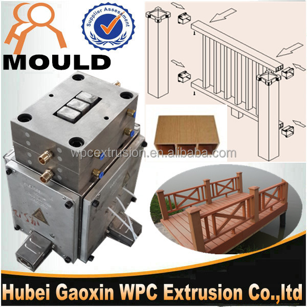 Hot sale High quality WPC plastic extrusion <strong>mould</strong> for PE PVC Fence die head best price in China