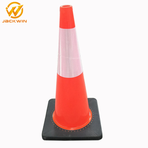 Plastic Road Traffic Barrier PVC Traffic Cone with Rubber Base