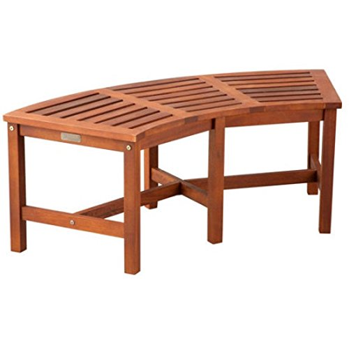 Superb Curved Backless Fire Pit Bench Made Of Eucalyptus Lamtechconsult Wood Chair Design Ideas Lamtechconsultcom