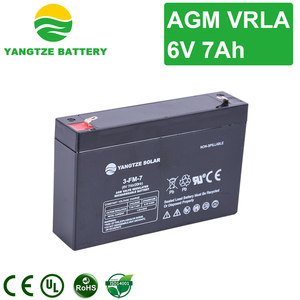 AGM VRLA free maintenance lead acid battery 6v 7ah 20hr rechargeable batteries