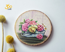 Hot Sales Custom Design Logo round coffee/tea coaster flowers for drink stone