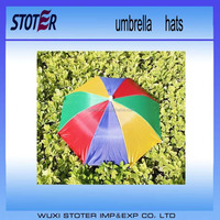 New Product Logo Printed Umbrella Hat For Whole Sale