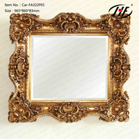 Car-FA322P01 Large Antique Carved Gold Gilt Wall Mirror Style French Antique Reproduction Mirror