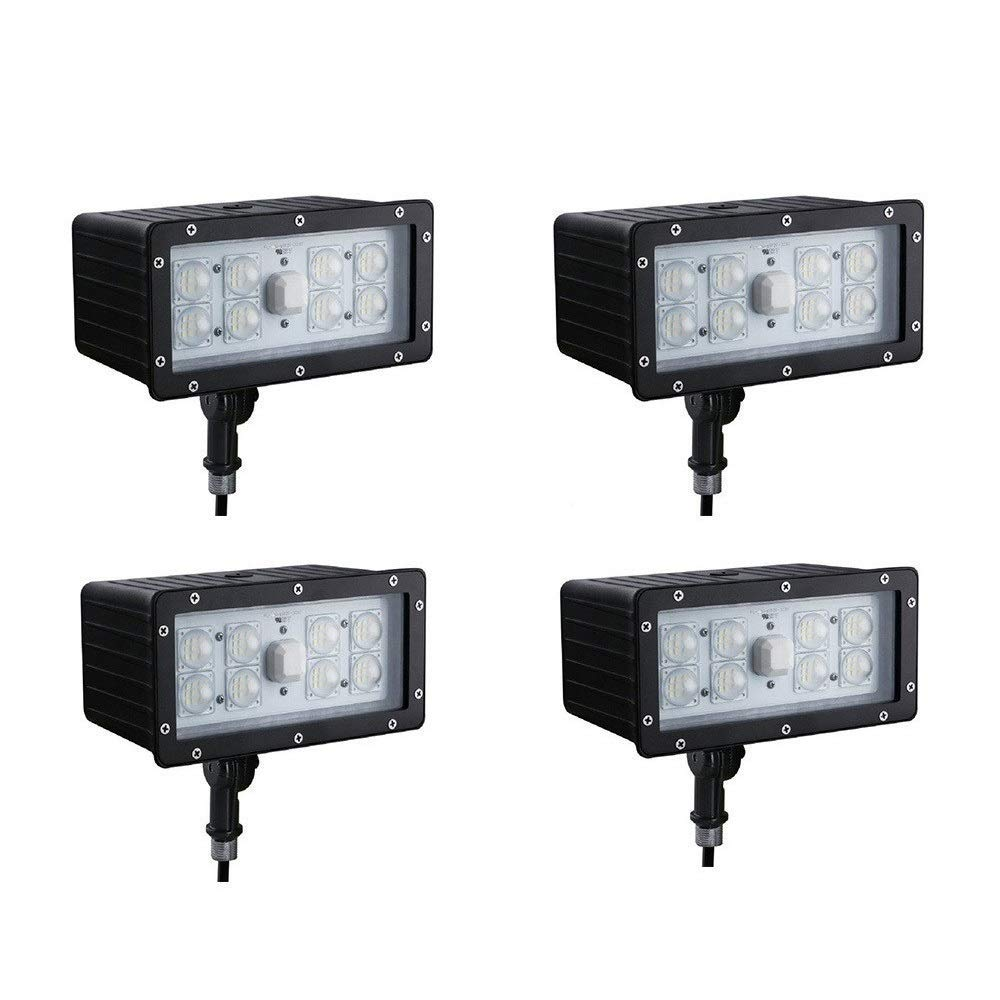1000LED LED Flood Light 45W(175W Eq.) 4 Pack, Outdoor IP65 Waterproof Upgrade Flood Lighting, Daylight 5000K Super Bright 5400lm Output, UL DLC Listed with 5 Years Warranty