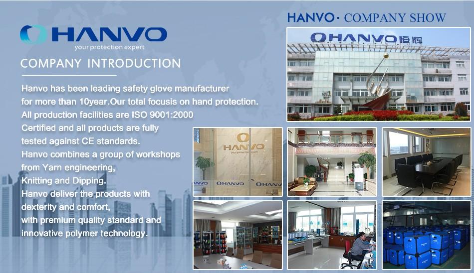 HANVO Wholesale Price Nylon Dipping Foam Nitrile Mechanical Work Gloves