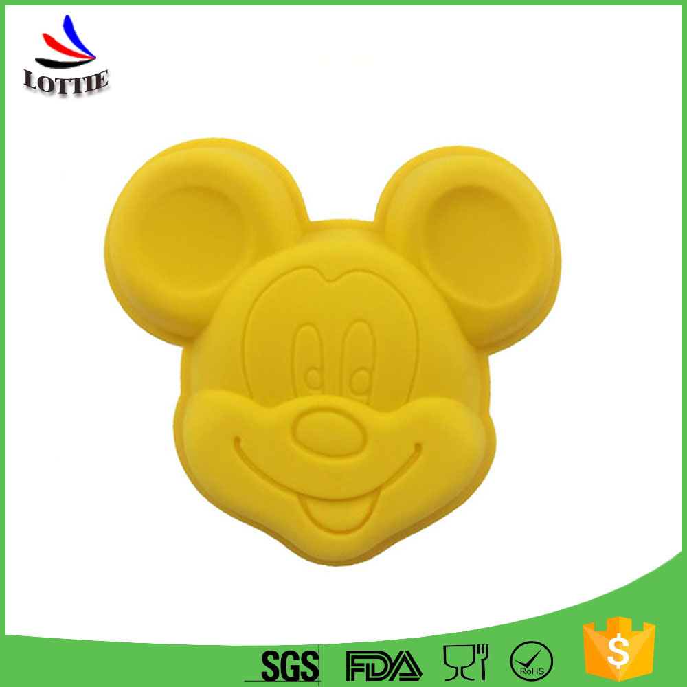 Best Selling Products Cartoon Mickey Mouse Shape Eco-Friendly Cake Decorating Tools Silicone Cake Pan