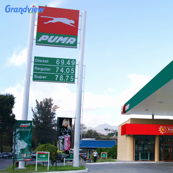 High quality waterproof outdoor Gas Station canopy fascia Signs & High Quality Waterproof Outdoor Gas Station Canopy Fascia Signs ...