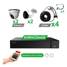 Cantonk CCTV מערכת 4 מצלמות 4 <span class=keywords><strong>ערוץ</strong></span> DVR ערכת <span class=keywords><strong>טלוויזיה</strong></span> <span class=keywords><strong>במעגל</strong></span> <span class=keywords><strong>סגור</strong></span> 5MP